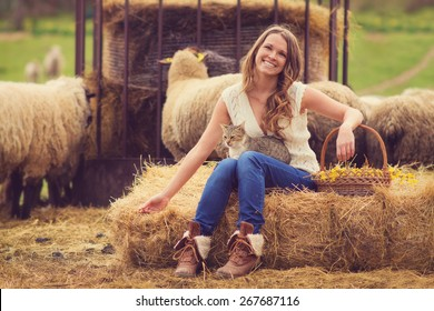 Farm life / Vintage style photo with custom white balance, color filters, soft focus