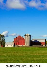 Farm with old barn buildings