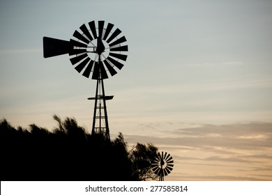 farm old windmill  for water in Patagonia