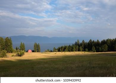 Farm overlooking Flathead Lake Montana