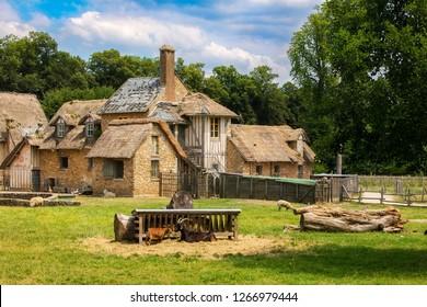 Farm Scene in the Queen's Hamlet in Versailles, France