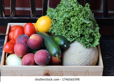 Farm Share Produce, Community Supported Agriculture (CSA) Farm Share Produce, Farm basket delivered at the door