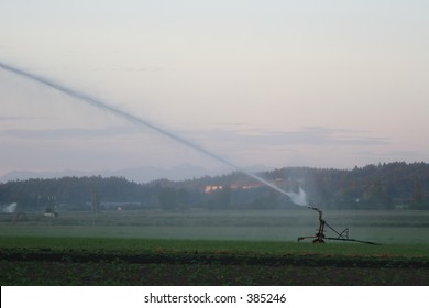 Farm Sprinkler in the early day