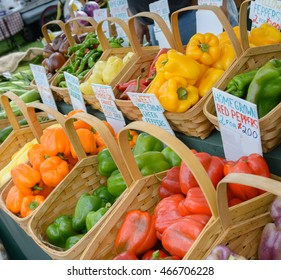 farm stand with peppers