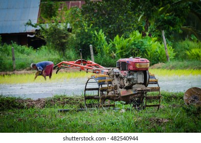 The farm tractor in Thailand