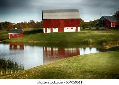Farm view in Markham, Ontario