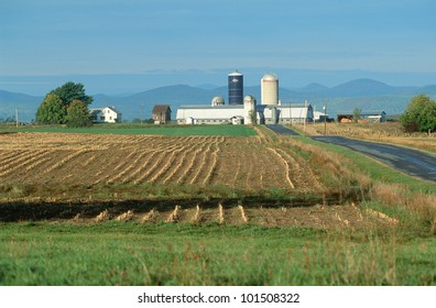 Farm in winter, Adirondacks, Vermont
