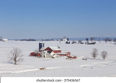 Farm in winter wonderland