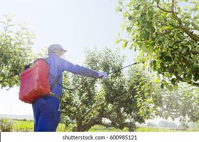 farmer fumigating, danger of contamination