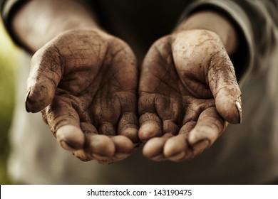 farmer hands.