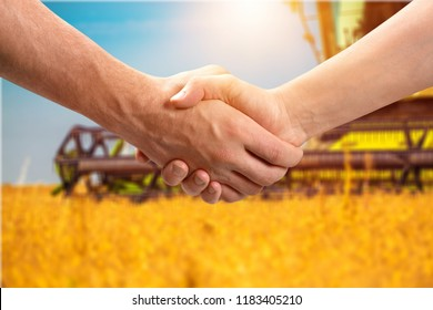 Farmer handshake agribusiness agricultural farming adult agreement