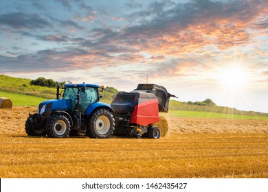 farmer preparing straw millstones after harvest
