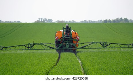 Farmer when applying pesticides