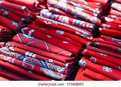 Farmers handkerchief in red-white-blue