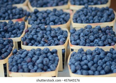 Farmers Market - Blueberries in Boxes