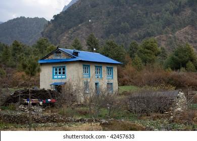 A farmhouse in the Solukhumbu region of Nepal