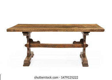 Farmhouse table old antique isolated on white