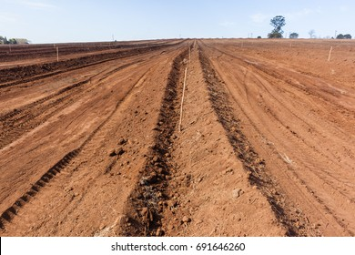 Farming Plowed Earth Landscape Plowed farm field closeup earth soil detail agriculture background landscape