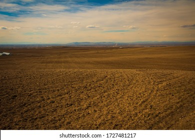 Farmland in Idaho, nothing but nothing for miles