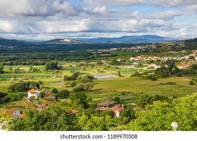 Farmlands and villages of Valenca do Minho, Portugal