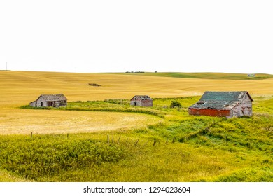 As farms progress and build new, or are just let go old farm buildings can be seen as reminders of times gone by on the Canadian prairies