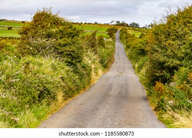 Farms road and meadow in Liscannor, Clare, Ireland