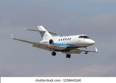 Farnborough, UK - July 18, 2014: Hawker Beechcraft 900XP Business jet aircraft G-ORXX.