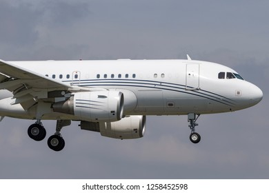Farnborough, UK - July 18, 2014: Airbus A319-115 (Airbus Corporate Jet / Airbus ACJ) G-NOAH.