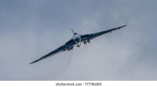 Farnborough, UK July 2012 -  Avro Vulcan displaying at the Farnborough International Airshow