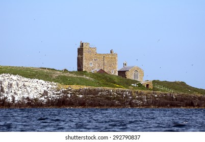 FARNE ISLANDS, ENGLAND - JUNE 11: Saint Cuthbert Chapel on June 11, 2015 at Farne Islands, England. Farne Islands were once important monastic sites.