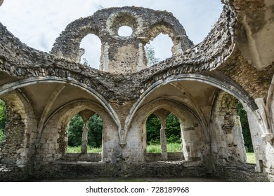 Farnham, Surrey, UK: Ruins of Waverley Abbey the first Cistercian abbey in England.