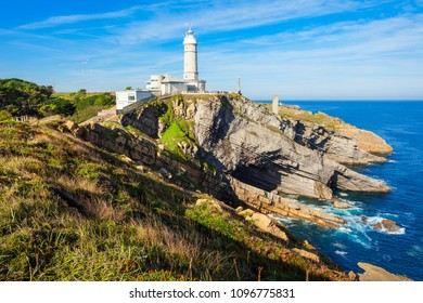 Faro Cabo Mayor lighthouse in Santander city, Cantabria region of Spain