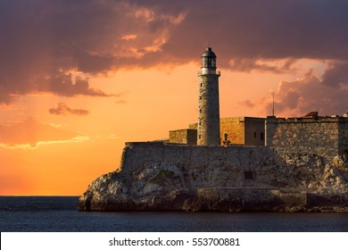 Faro Castillo del Morro is a lighthouse that is part of the Morro Castle in Havana, Cuba.