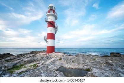 Faro de Punta Cancun Lighthouse Mexico Faro