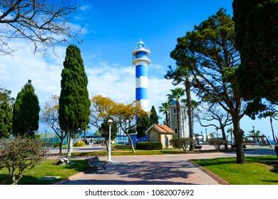 Faro de Torre del Mar, Torre del Mar, Velez-Malaga, Axarquia Costa del Sol, Malaga, Andalusia, Spain, Iberian Peninsula