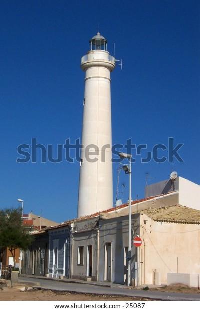 . Faro di Punta Secca, Santa Croce Camerina, Sicilia. Punta Secca's Lighthouse, S.Croce Camerina, Siciliy.