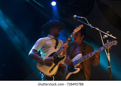 FARO, PORTUGAL: 1st SEPTEMBER, 2017 - Music band, Black Mamba, performs on Festival F, a big festival on the city of Faro, Portugal.