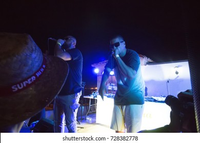 FARO, PORTUGAL: 2nd SEPTEMBER, 2017 - Music band, Kristoman, performs on Festival F, a big festival on the city of Faro, Portugal.