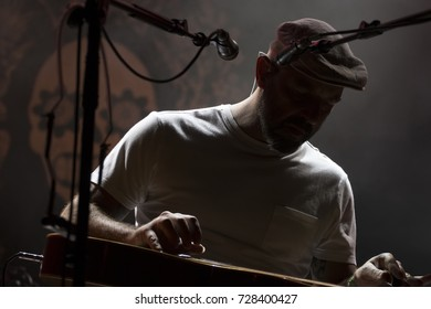 FARO, PORTUGAL: 2nd SEPTEMBER, 2017 - Music band, Frankie Chavez, performs on Festival F, a big festival on the city of Faro, Portugal.