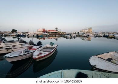 Faro - Portugal, April 4, 2018: Faro Marina in Faro City, Algarve, Portugal