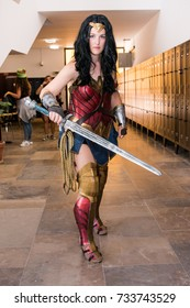 FARO, PORTUGAL - August 19, 2017: Cosplay fan in costume in the Manga & Comic Event.