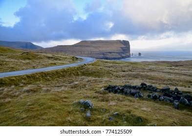 Faroe Islands Eysturoy Island around Eidi