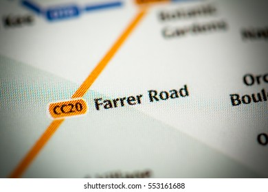 Farrer Road Station. Singapore Metro map.