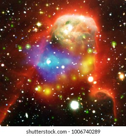 Fascinating galaxy and nebula background. The elements of this image furnished by NASA.