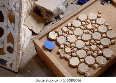 The fascinating Zellig tile factory in Fes, Morocco where tiles are handcrafted