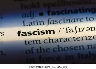 fascism word in a dictionary. fascism concept
