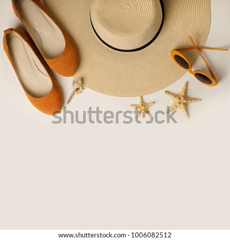 bd6d4d96d ... Stock Photo (Edit Now) 1006082512 - Shutterstock. Fashion accessories  for the beach - hat