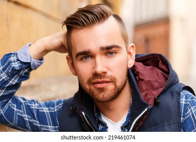 Fashion. Attractive man on the street