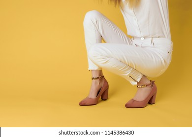 fashion background white jeans