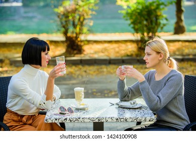 fashion beauty. bisiness lunch. happy lunch. Enjoying morning coffee. happy friends girls meet in cafe. coffee time. Meeting in cafe. female frienship. Relax with coffee. Enjoying nice morning.